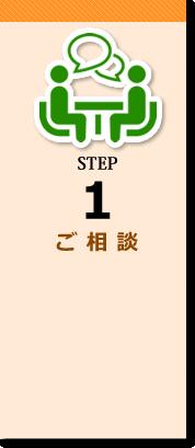STEP1 ご相談 まずはお気軽にご相談ください。